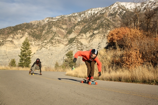 Noah Allred and Knox Heslop can't drive yet, but they can skate real fast.