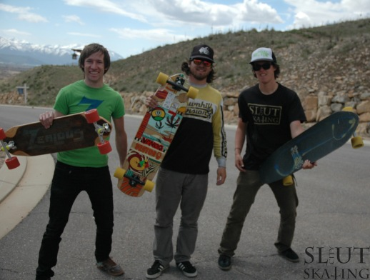 "The 2nd annual River Meadows Outlaw was killer. Rad runs with a rad group of homies. Micah Green (center) snagged first with Bryce Brady (left) in second and Jake ""mole bowl"" Wilkinson in third."