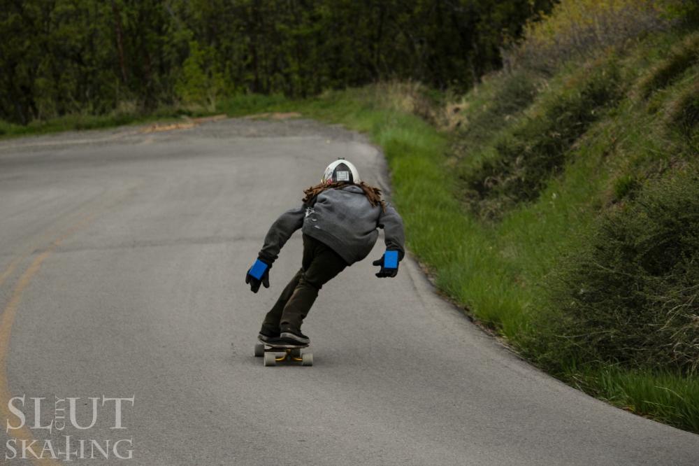 Dalton mocking through a fast chicane